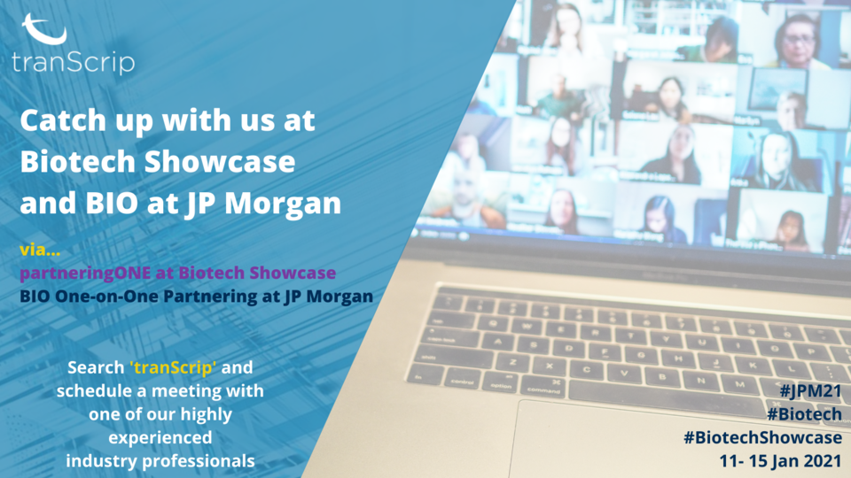 Meet us at Biotech Showcase and BIO at JP Morgan